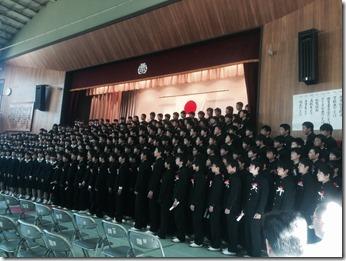 浦賀中学校卒業式
