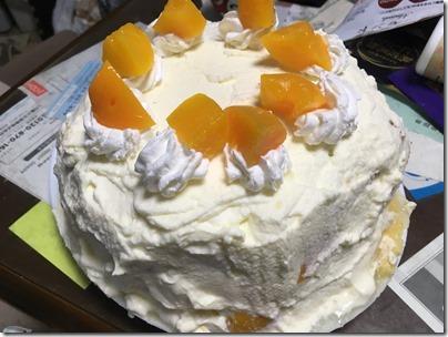 桃のケーキとアサリのパスタ (3)